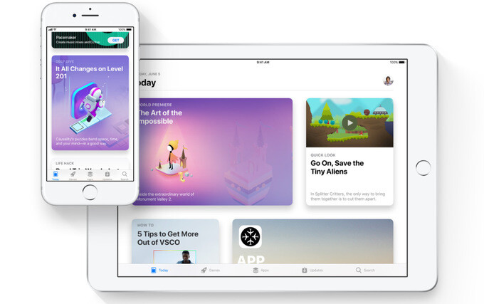 A sneak peek at the new App Store in iOS 11 - iOS 11 is announced with improvements to Siri, Apple Pay, Photos and lots more