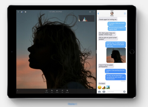 iOS 11 multitasking with drag and drop