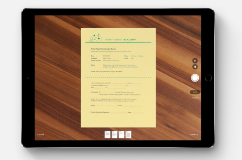 iOS 11 can scan documents