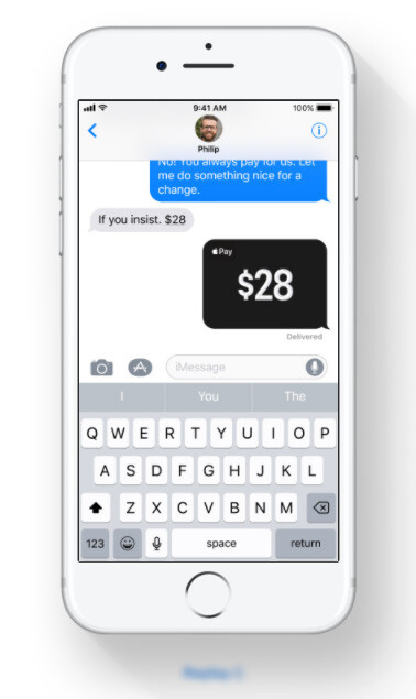 Apple Pay sends money directly in Messages