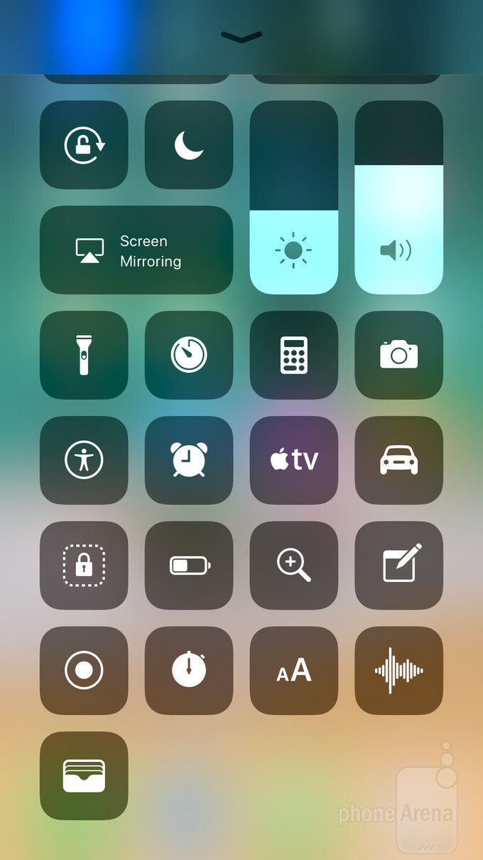 The default look of Control Center (left), the list of shortcuts that can be added (middle), and what enabling all shortcuts looks like (right) - What's new in Control Center in iOS 11: design, functionality, customization