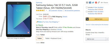 Deal: Samsung Galaxy Tab S3 9.7-inch gets a $100 discount in the U.S.