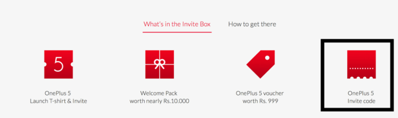 OnePlus 5 Invite Box includes an invite to buy the new phone