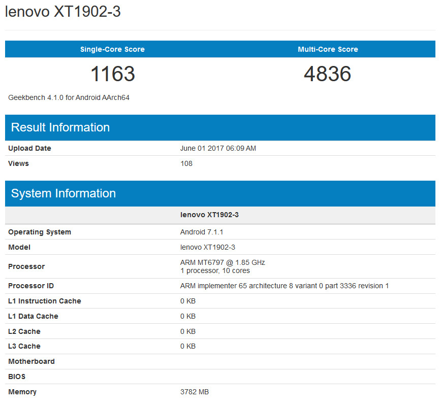 An unknown Moto handset is benchmarked on Geekbench; is it the sequel to the Moto M? - Possible Moto M sequel, loaded with deca-core chip, appears on Geekbech