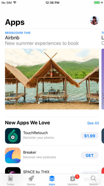 The Apps tab in the iOS 11 App Store