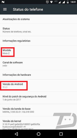 The non-Droid version of the Moto Z is the subject of a soak test for the Android 7.1.1 update