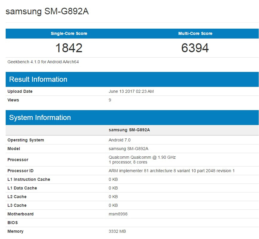 Samsung Galaxy S8 Active pops up on Geekbench revealing key specs