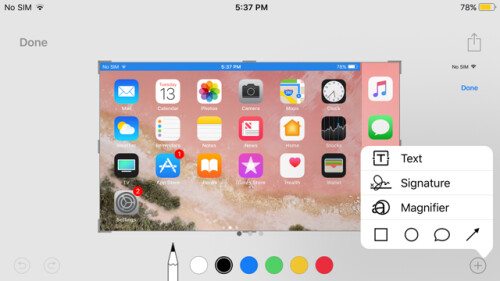 The new way to capture screenshots in iOS 11