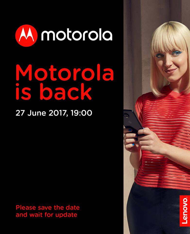 Motorola sends invite for June 27 event, the third Moto event this month - Moto Z2 announcement possible