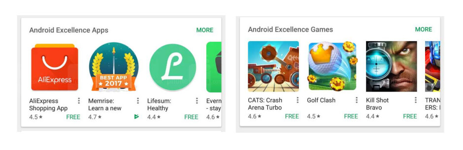 Android Excellence Apps and Games collections - Android Excellence is Google's answer to the new iOS 11 App Store