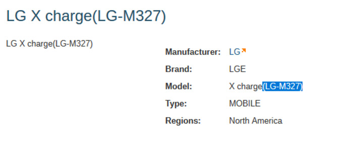 The LG X charge appears to be a low-end handset that will be offered at a budget price - FCC document reveals low-end LG X charge budget handset