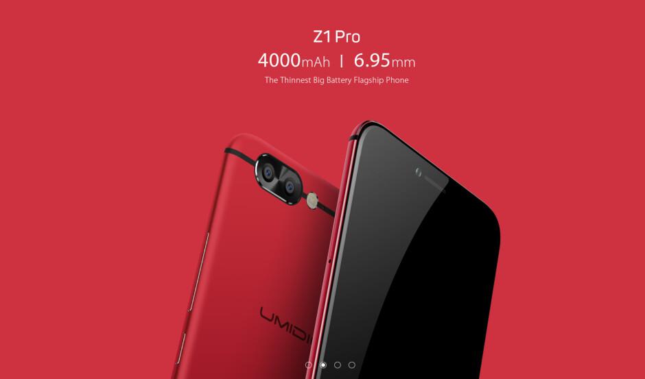 Massive battery, thin metallic body: here comes the UMIDIGI Z1 Pro