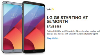 Deal: Get a Sprint LG G6 for just $120