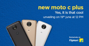 The Moto C Plus will be introduced in India on June 19th