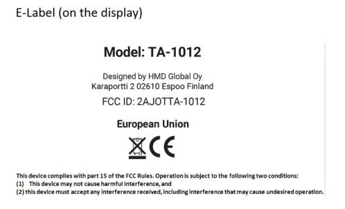 The Nokia 9 will use the FCC's E-Label