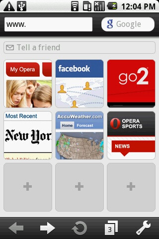 Opera Mini 5 beta adds functions like tabs, start-up screen with shortcuts and copy/paste