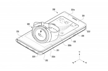 Patent images indicate that your Gear watch could be charged wirelessly, when placed on top of your smartphone