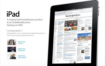 Pre-order your iPad at 8:30 am EST this morning
