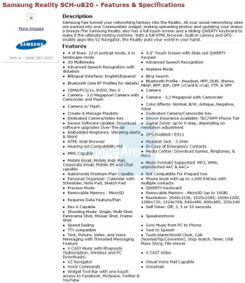 Samsung's U820 is a Reality for Verizon