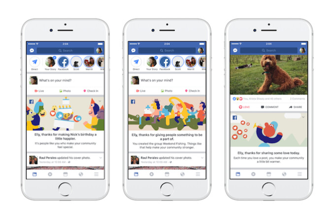"""Facebook thanks its users with special """"thank you"""" messages and personalized videos. - Facebook hits the 2 billion users mark, launches special """"thank you"""" features for its users"""