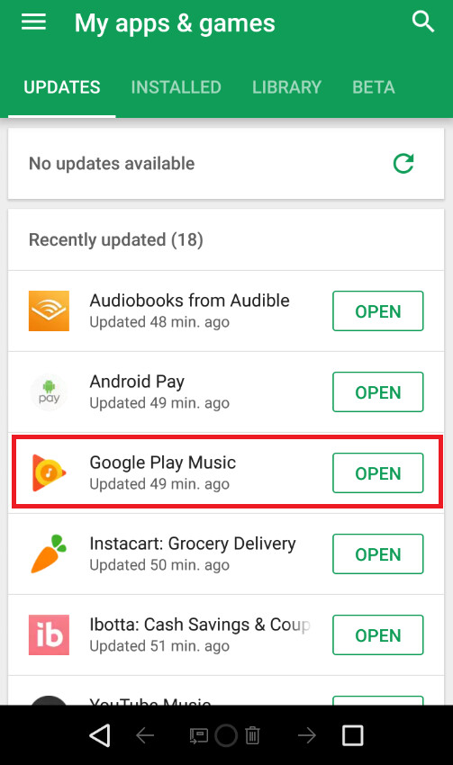 Bluetooth bug that crashes Google Play Music now repaired