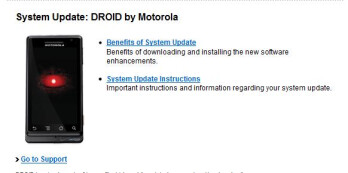 Verizon releases Android 2.1 update info for Motorola DROID