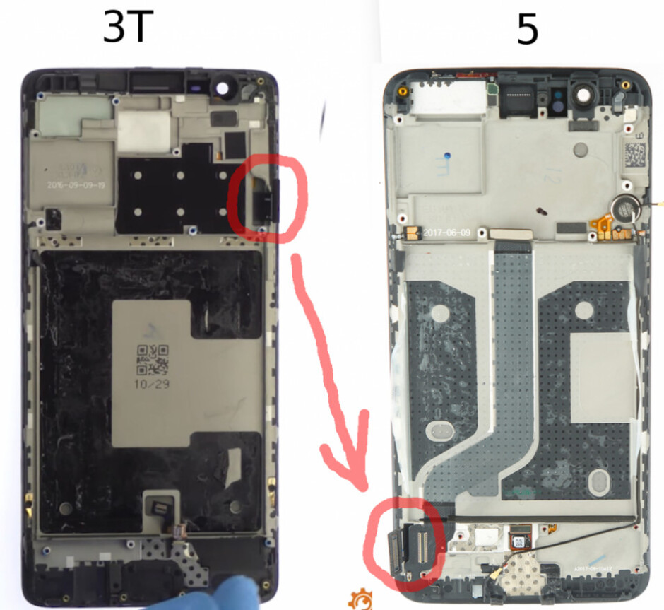 More evidence points to OnePlus 5 having its display mounted upside down