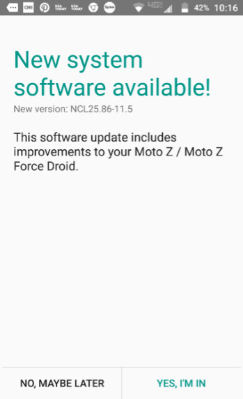 The Moto Z Droid and Moto Z Force Droid receive a software update