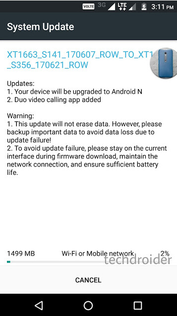 Update adds Android 7.0 and video chat app Duo to the Moto M - Android Nougat update comes to the Moto M
