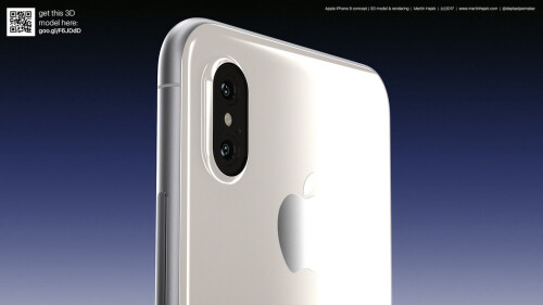 White and black iPhone 8 concept images
