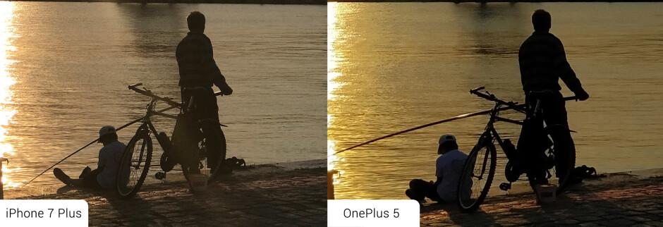 100% crops of photos taken @ 2x zoom - OnePlus 5 vs iPhone 7 Plus: Battle of the telephoto lenses