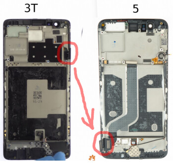 In order to mount the rear cameras on the back of the OnePlus 5 in the same spot as the Apple iPhone 7 Plus, OnePlus was forced to invert the screen to make room inside the device. That meant moving the controller from the top as seen with the OnePlus 3T, to the bottom as seen with the OnePlus 5
