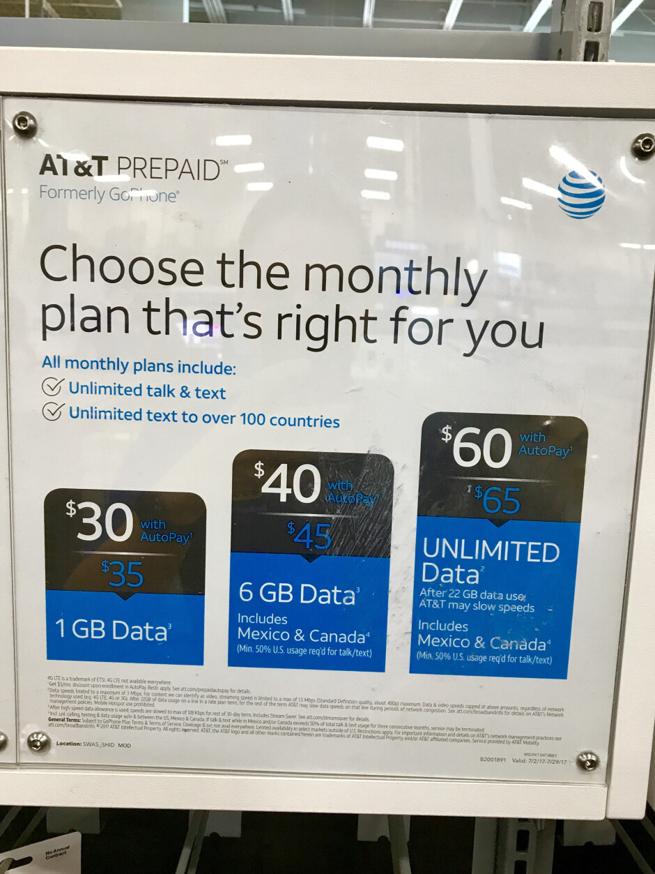 AT&T now offers new prepaid monthly plans, GoPhone may soon be rebranded