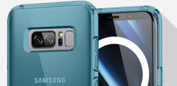Olixar's cases for the Galaxy Note 8 reveal a larger Infinity Display and a rear-facing fingerprint scanner