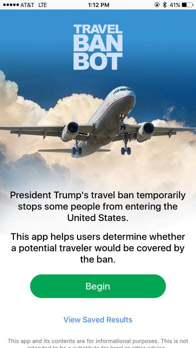 Travel Ban Bot
