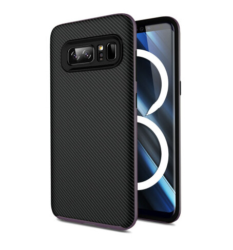 Samsung Galaxy Note 8 Olixar X-Duo Carbon Fiber case in Metallic Gray