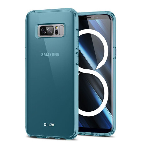 Olixar Flexi-Shield gel case in Blue for the Galaxy Note 8