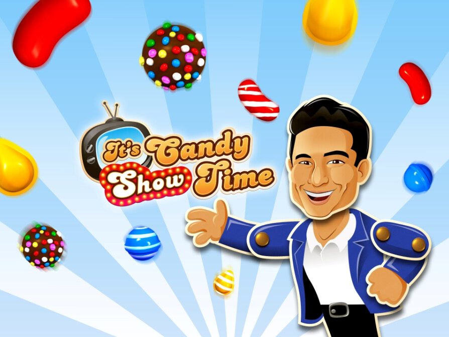 A candified Mario Lopez will host the in-game events that home viewers will participate in in order to win prizes - Viewers of Candy Crush live TV game show will have a chance to play along to win prizes