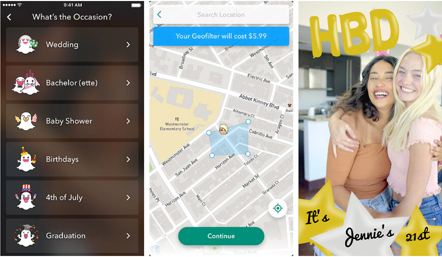 Custom geofilters - Snapchat update adds Voice Filters and a handful of other new features