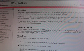 Verizon's BlackBerry Tour to begin Push-to-Talk service on March 30th?