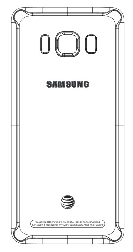 The Galaxy S8 Active's back, as shown in FCC documentation