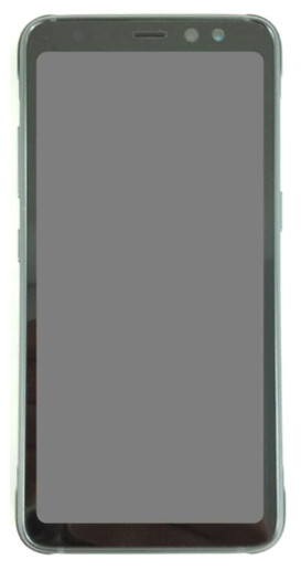 The Galaxy S8 Active's front, as shown in WPC documentation