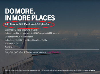 T-Mobile has doubled the price of T-Mobile One Plus to $10 per month