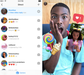 Instagram's new feature allows subscribers to respond by picture or video to an Instagram Story