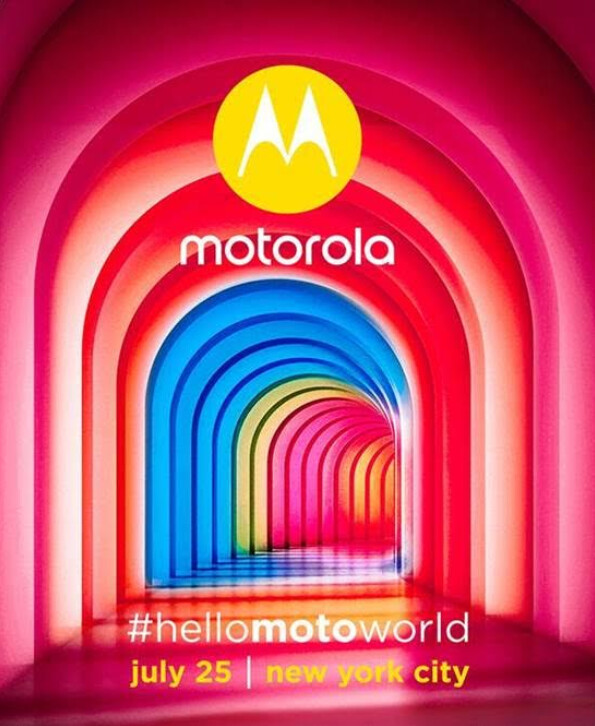 Motorola will unveil at least one new device on July 25th - Motorola to hold July 25th new product unveiling event in New York City