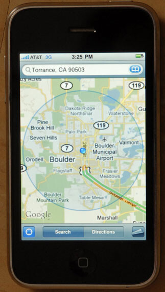 Some L.A. located iPhones think they live in Boulder, Colorado