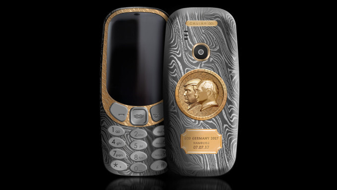 """There's a luxury """"Trump-Putin"""" edition of the new Nokia 3310 and you can have it for """"only"""" $2,500"""