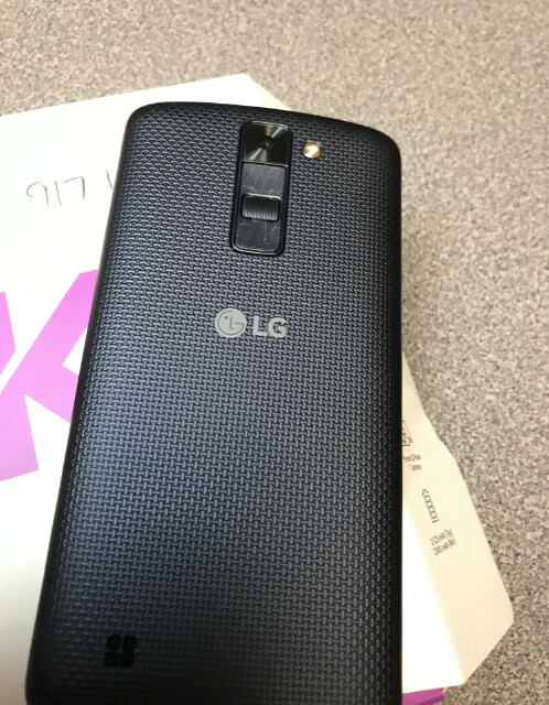 This is the actual phone used in the trade, an LG K8 that can be bought for $50 at Best Buy