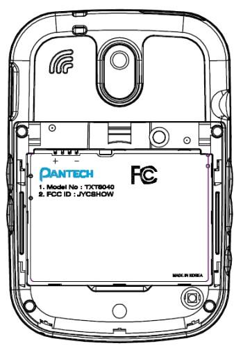 Pantech TXT8040 for Verizon passes the FCC