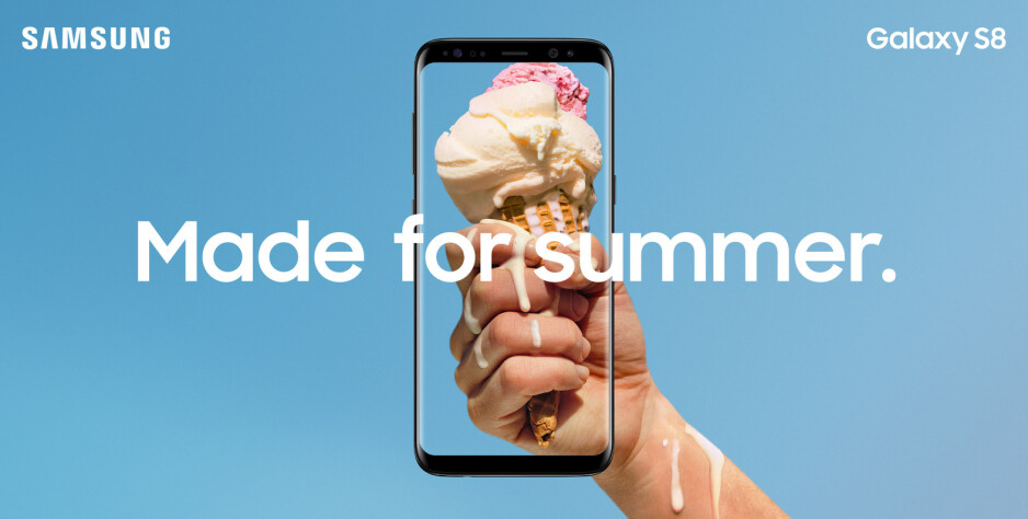 Samsung says the Galaxy S8 and S8+ are made for summer